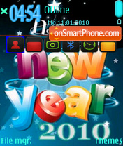 New Year 2010 02 es el tema de pantalla
