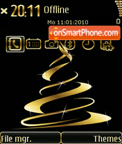 Golden Xmas tema screenshot