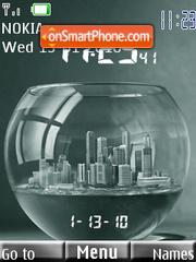 Clock Aquarium theme screenshot