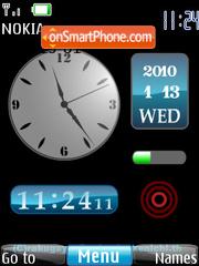 Clock Gajet theme screenshot