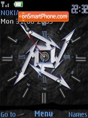 Metallica Clock SWF es el tema de pantalla