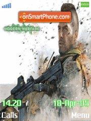 Call of duty modern warfare es el tema de pantalla