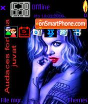 Vampire GIrl theme screenshot