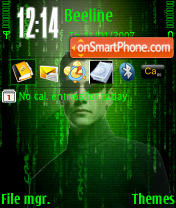 Matrix theme screenshot