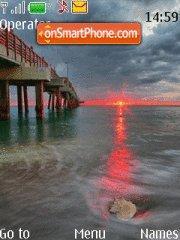 Red Sunrise theme screenshot