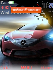Mercedes Clock theme screenshot