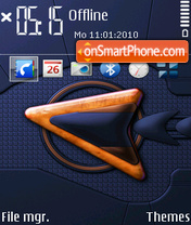 Orange Sign theme screenshot
