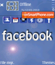 Facebook theme screenshot