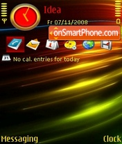 Abstract Colors theme screenshot