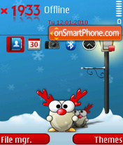 Christmas giveaway theme screenshot