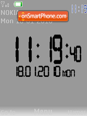 Swf clock tema screenshot
