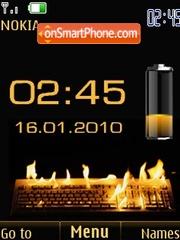 Swf clock date & battery theme screenshot