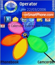 Скриншот темы Rainbo flower