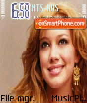 Hillary Duff theme screenshot
