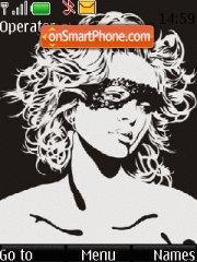 Black & White Lady theme screenshot