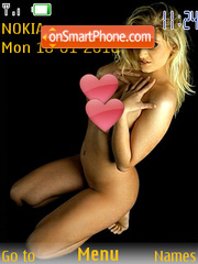 Hot Blonde Girl tema screenshot