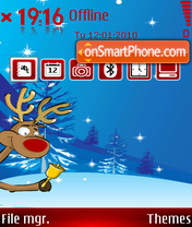 Ringing Reindeer theme screenshot