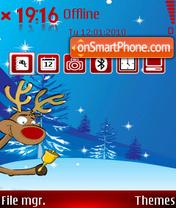 Ringing Reindeer tema screenshot