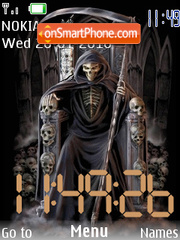 Scary swf clock tema screenshot
