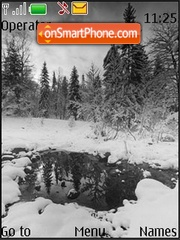 Grey Winter theme screenshot