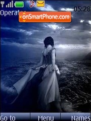 Girl & sea theme screenshot