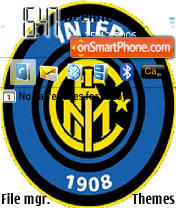 Inter Millan theme screenshot