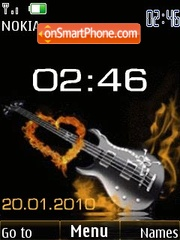 Clock guitar animated theme screenshot