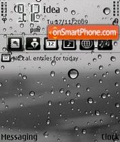 Water Drops tema screenshot