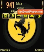 Скриншот темы Ferrari Logo