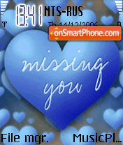 Missing You 01 es el tema de pantalla