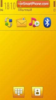 Yellow Series Di theme screenshot