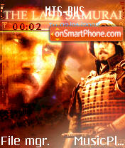The Last Samurai theme screenshot
