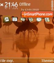 Скриншот темы Cranes