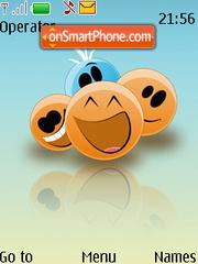 Cute Smilies es el tema de pantalla