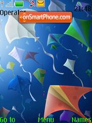 Скриншот темы Colourful Kites