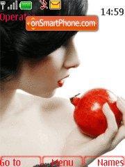 Girl with Apple theme screenshot