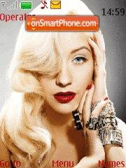 Скриншот темы Christina Aguilera
