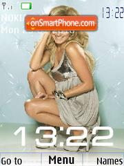 Ashley Tisdale Clock es el tema de pantalla