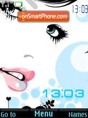 Face SWF clock theme screenshot