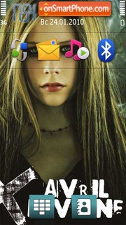 Avril lavigne 03 theme screenshot