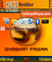Symbian Freak tema screenshot