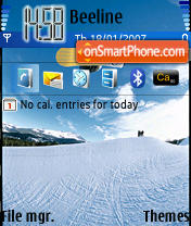 Скриншот темы Snowboard