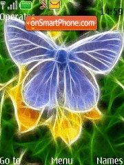 Capture d'écran Neon Butterfly thème