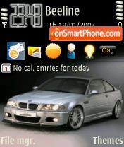 BMW 3 s es el tema de pantalla