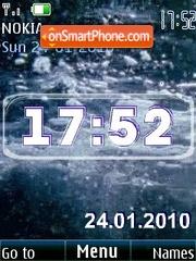 Clock see animated theme screenshot