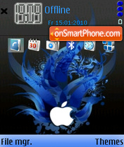 Apple Blue 01 theme screenshot