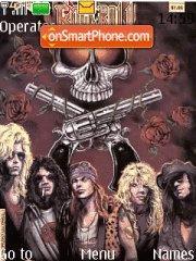 Guns 'n roses theme screenshot