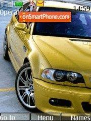 Capture d'écran Yellow BMW thème