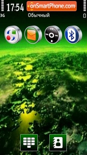 Black & Green tema screenshot