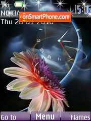 Gerbera SWF Clock theme screenshot